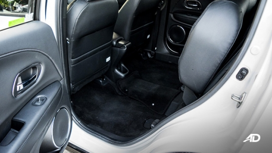 honda hr-v review road test rear seats upfold interior
