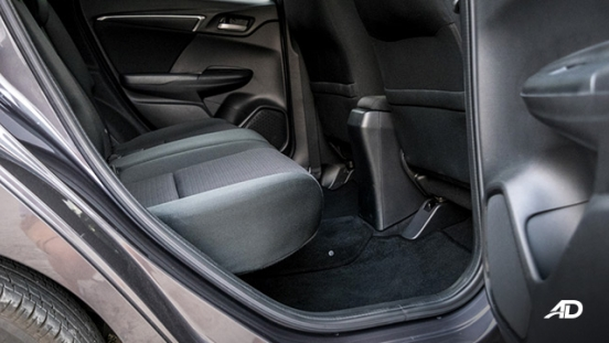 honda jazz road test interior rear cabin legroom