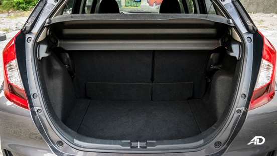 honda jazz road test interior trunk cargo