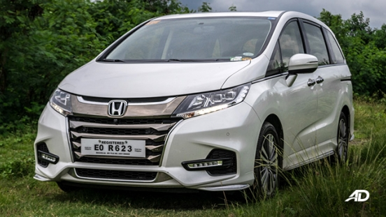 honda odyssey review road test front quarter exterior philippines