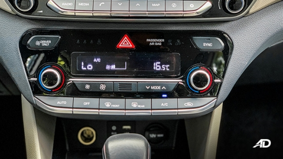 hyundai ioniq hybrid review road test climate control interior