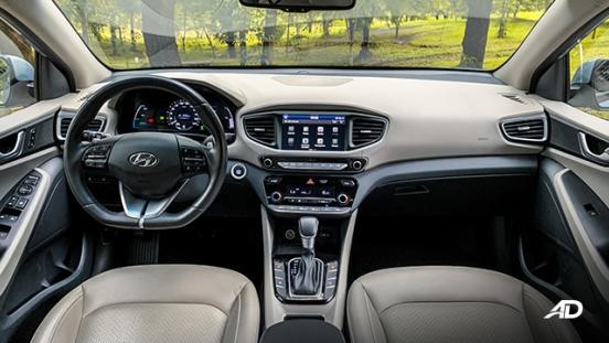 hyundai ioniq hybrid review road test dashboard interior philippines