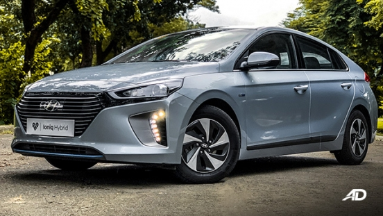 hyundai ioniq hybrid review road test front quarter exterior