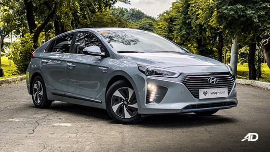 hyundai ioniq hybrid review road test front quarter exterior philippines