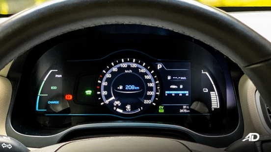 hyundai ioniq hybrid review road test instrument cluster interior