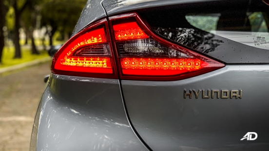 hyundai ioniq hybrid review road test led taillights exterior