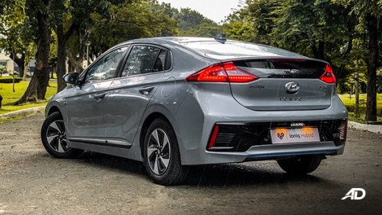 hyundai ioniq hybrid review road test rear quarter exterior philippines