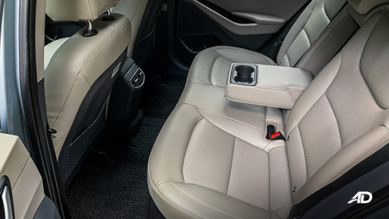 hyundai ioniq hybrid review road test rear seats interior
