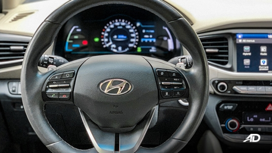 hyundai ioniq hybrid review road test steering wheel interior philippines