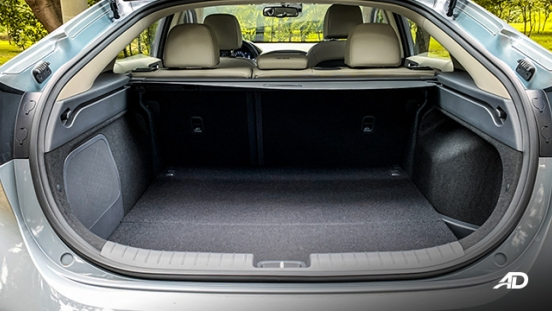 hyundai ioniq hybrid review road test trunk cargo interior philippines