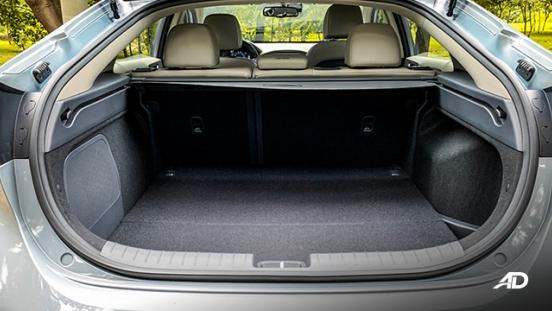 hyundai ioniq hybrid review road test trunk cargo interior philippines