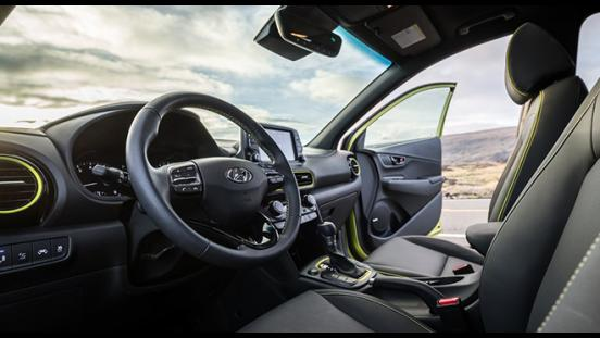 Hyundai Kona 2018 inerior