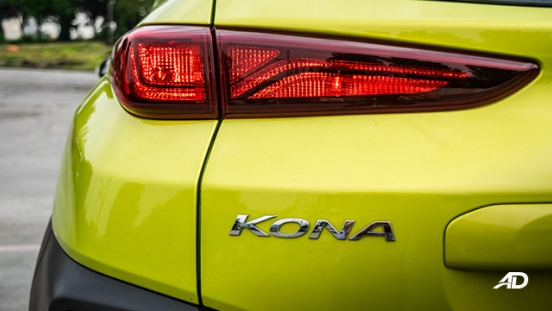 hyundai kona review road test taillights exterior philippines
