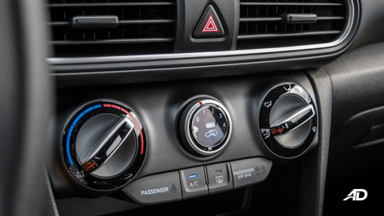 Hyundai Kona road test interior air conditioning