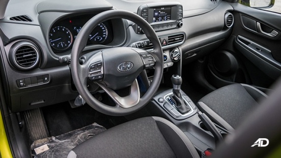 Hyundai Kona road test interior cabin philippines