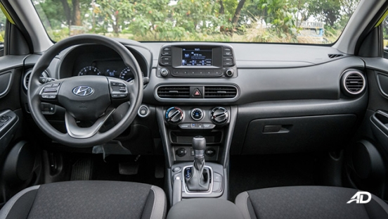 Hyundai Kona road test interior dashboard