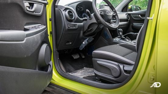 Hyundai Kona road test interior front cabin