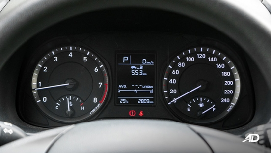 Hyundai Kona road test interior instrument cluster