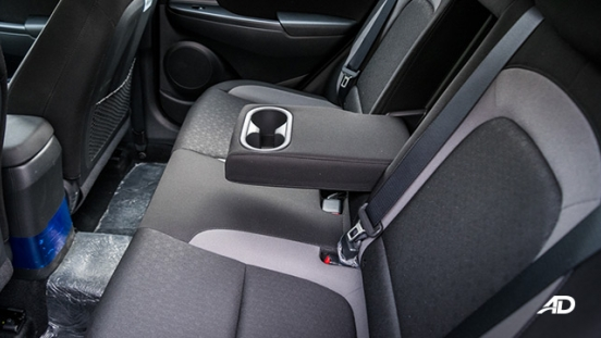 Hyundai Kona road test interior rear cabin
