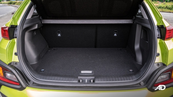 Hyundai Kona road test interior trunk
