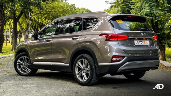 hyundai santa fe road test exterior rear philippines