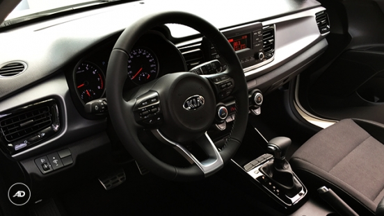 Kia Rio Hatchback 2018 steering wheel