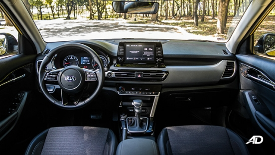 kia seltos review road test dashboard interior philippines