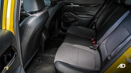 kia seltos review road test rear cabin interior