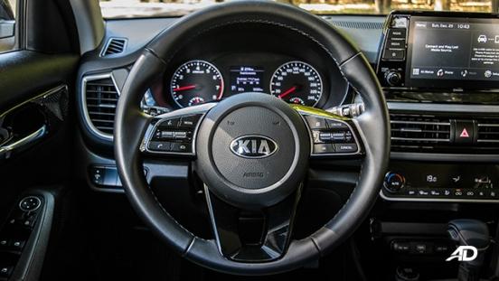 kia seltos review road test steering wheel interior