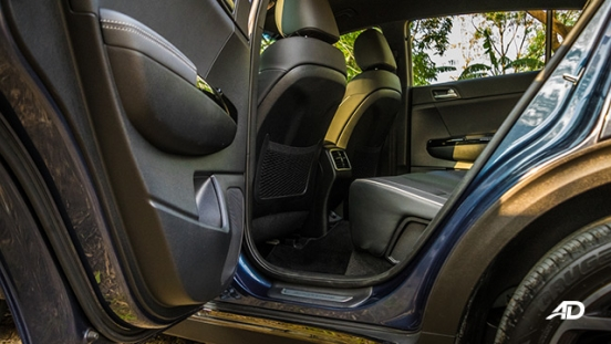kia sportage review road test rear legroom interior