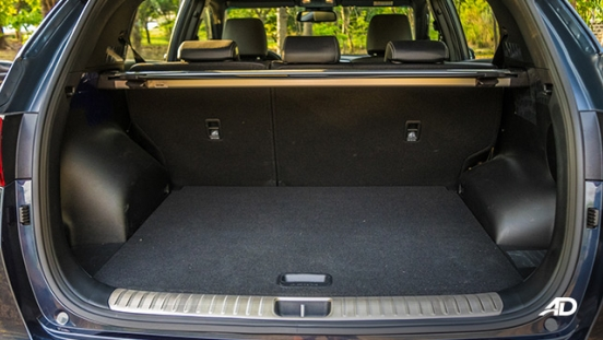kia sportage review road test trunk cargo interior