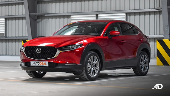 mazda cx-30 beauty shot front quarter exterior