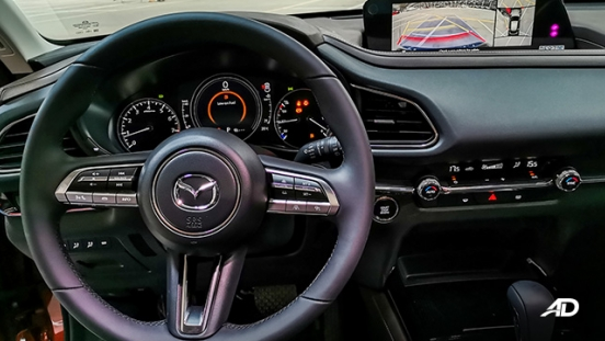 mazda cx-30 beauty shot steering wheel interior