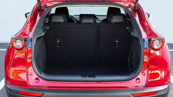 mazda cx-30 press photo trunk cargo interior