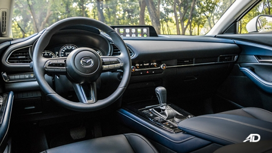 mazda cx-30 review road test front cabin interior philippines