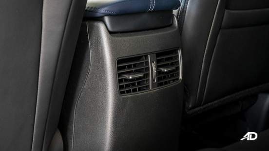 mazda cx-30 review road test rear aircon vents interior