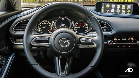 mazda cx-30 review road test steering wheel interior