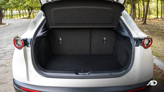 mazda cx-30 review road test trunk cargo interior philippines