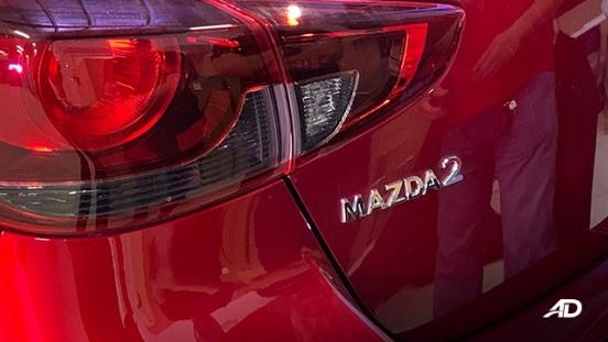 Mazda2 sedan launch philippines badge exterior