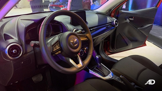 Mazda2 sedan launch philippines front cabin interior