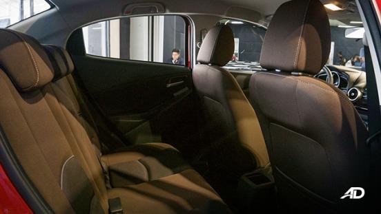 Mazda2 sedan launch philippines rear legroom interior