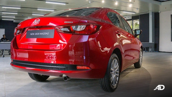 Mazda2 sedan launch philippines rear quarter exterior