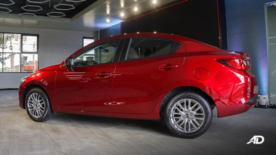 Mazda2 sedan launch philippines rear side exterior