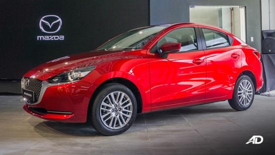 Mazda2 sedan launch philippines side quarter exterior