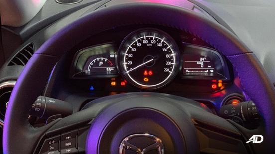Mazda2 sedan launch philippines steering wheel interior
