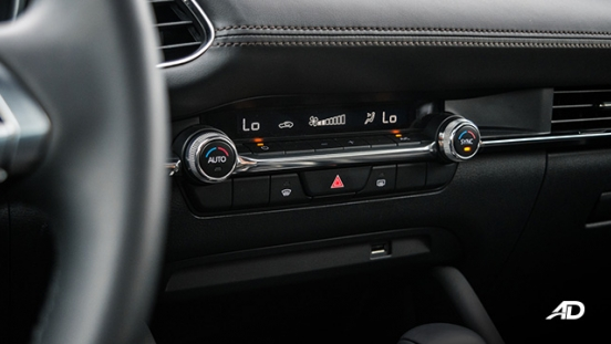 mazda3 sportback road test review climate control interior