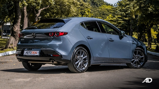mazda3 sportback road test review polymetal gray rear quarter exterior philippines