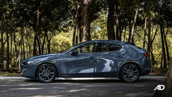 mazda3 sportback road test review polymetal gray side exterior