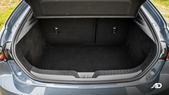 mazda3 sportback road test review polymetal gray trunk cargo interior philippines