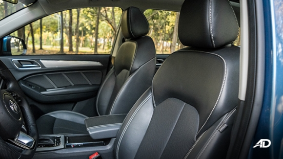 mg rx5 review road test front leather seats interior philippines